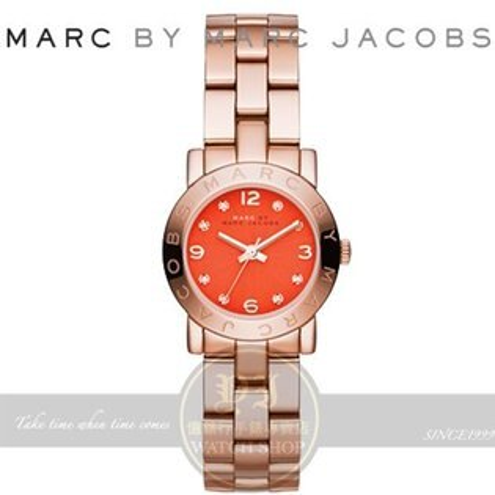 MARC BY MARC JACOBS國際精品Amy潮流時尚腕錶-紅x玫瑰金/26mm MBM3305公司貨 聖誕節/生日禮