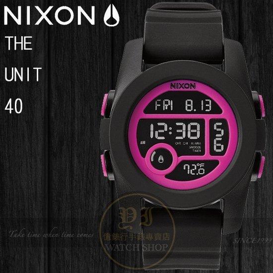 NIXON 實體店The Unit 40潮流玩味- Black/Magenta A490-1614公司貨/溫度