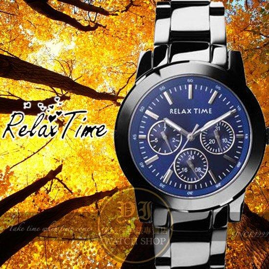 Relax Time關詩敏代言經典三眼錶款-藍/黑/42mm R0800-16-07X公司貨/MIT/原創設計