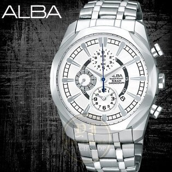 ALBA彭于晏代言FLAGSHIP尊爵時尚計時腕錶-38mm/白 AF8M37X/YM92-X148S公司貨