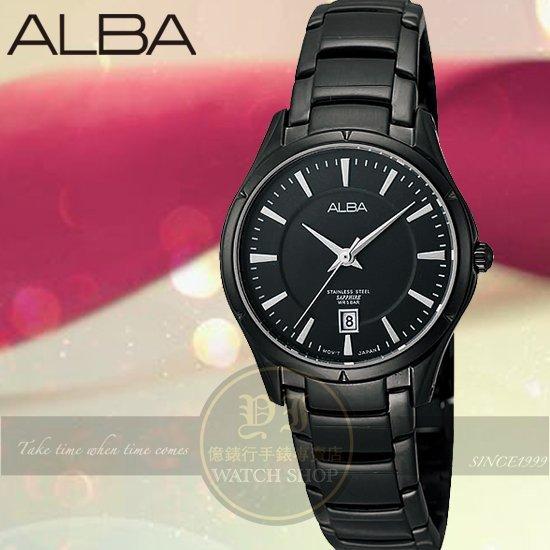 ALBA 楊祐寧代言PRESTIGE都會簡約腕錶IP黑/28mm VJ22-X115SD/AH7601X公司貨/情人節