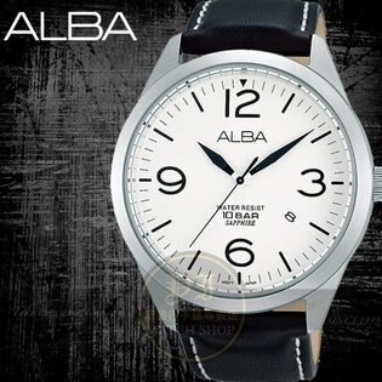 ALBA 楊祐寧代言 ACTIVE玩酷型男真皮腕錶/44mm/VJ42-X126Z/AS9755X1公司貨//情人節