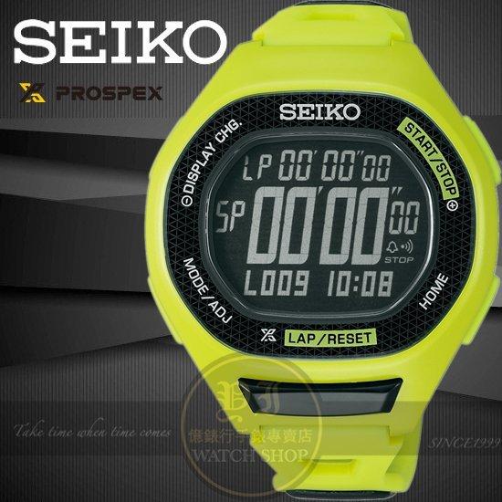 SEIKO日本精工PROSPEX運動玩家電子腕錶-綠/47mm S611-00A0E/SBEG005J公司貨/跑步