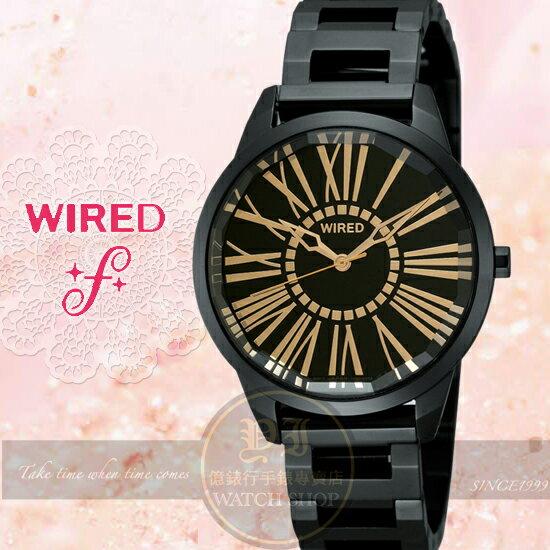 WIRED f日本原創玲奈甜蜜情人限量腕錶-IP黑/35mm 7N01-X005K/AG5A21X1公司貨