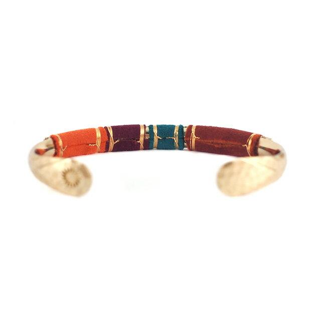 【現貨商品】【GAS Bijoux】Massai 麂皮手編拋光黃銅手環(GAB006Grn-097  0887730000) 1