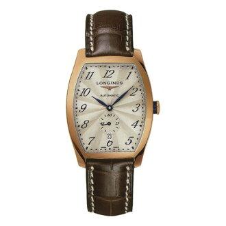 LONGINES L26428732典藏酒桶18k金機械腕錶/黑面33.1*38.75mm