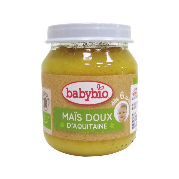 『121婦嬰用品館』法國 Babybio 有機甜玉米泥(130g/4M+) 0