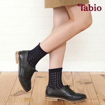 靴下屋Tabio 鏤空針織緹花短襪