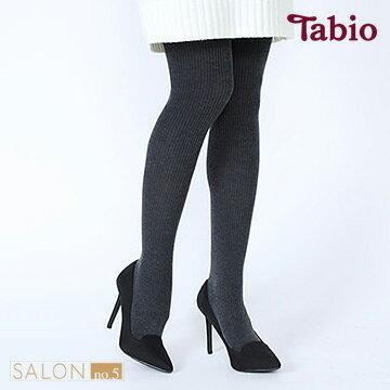 靴下屋Tabio 羅紋發熱保暖連褲襪250D