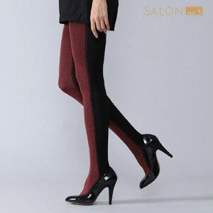 靴下屋Tabio 摩登雙色美腿褲襪250D