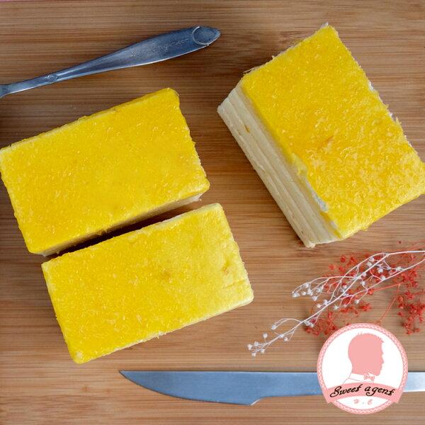 【甜點特務】[ 初戀少女的檸檬橙果蛋糕 ] 橙果淋面+海綿蛋糕+檸檬鮮奶油