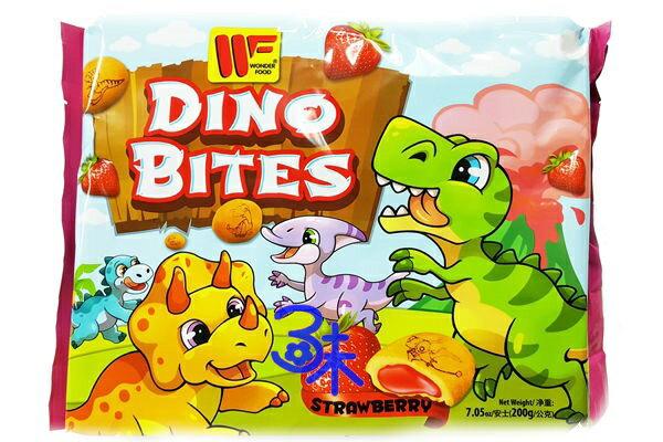 (馬來西亞) 恐龍蛋夾心餅乾 - 草莓 (草莓夾心餅乾)1包 200 公克 特價 73 元 【 9555311007398 】