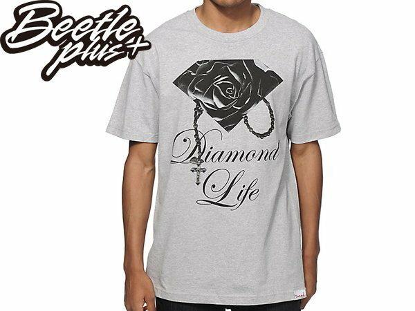 BEETLE+ DIAMOND SUPPLY CO ROSE BRILLIANT 玫瑰 鑽石 項鍊 灰黑 短T TEE - 限時優惠好康折扣