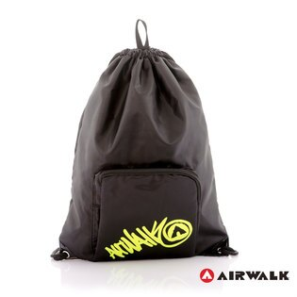 AIRWALK街頭系列-街頭主義系列-束口後背包(黑色)