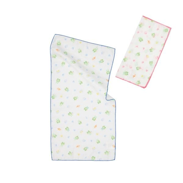 Kaeru哈皮蛙 - 印花紗布澡巾 (2入) 0