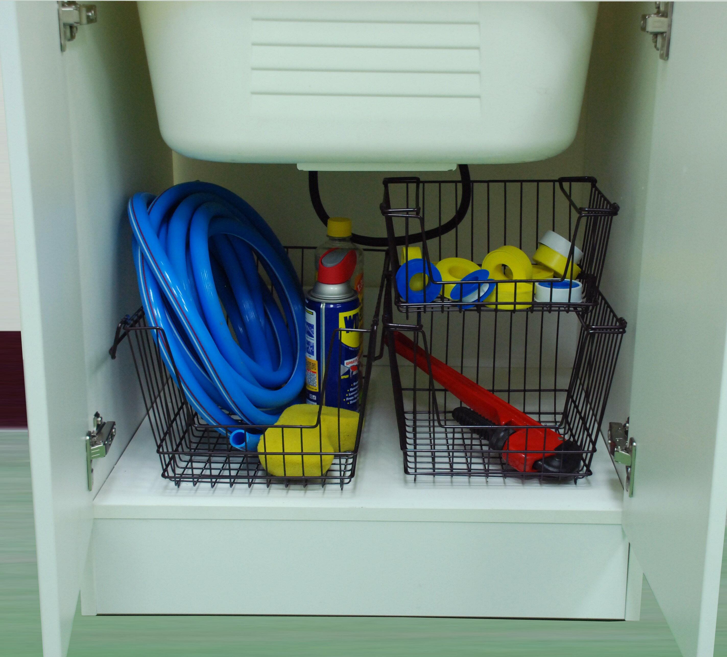 【凱樂絲】媽咪好幫手堆疊收納籃  一組三入促銷價899 - 自由DIY 空間利用 透氣通風, 客廳, 廚房, 衣櫃適用 6