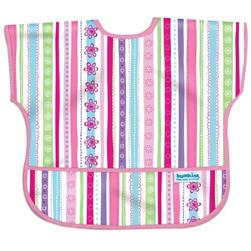 美國【Bumkins】兒童短袖防水圍兜 - 彩色緞帶 BKU-760 (1-3歲) - 限時優惠好康折扣