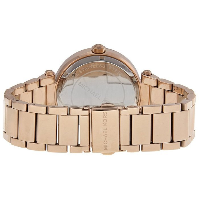 【MICHAEL KORS】正品 MK LOGO 玫瑰金 鑲鑽 計時 手錶 腕錶 MK5865 1