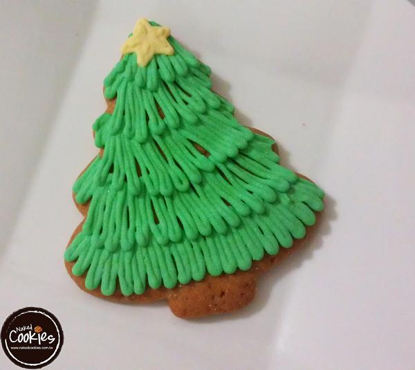 【裸餅乾Naked Cookies】聖誕樹(2)6入-創意手工糖霜餅乾,婚禮小物/生日/活動/收涎/彌月
