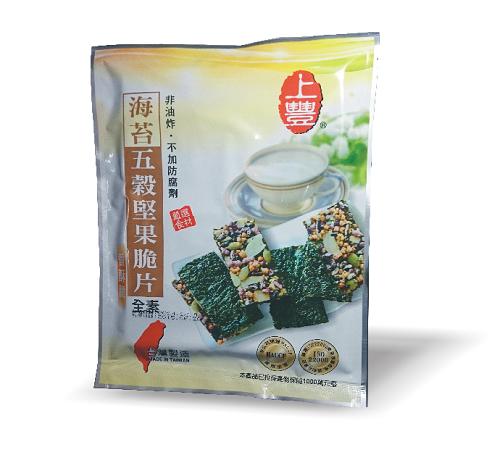 (福友小舖)-海苔五穀堅果脆片 /10入