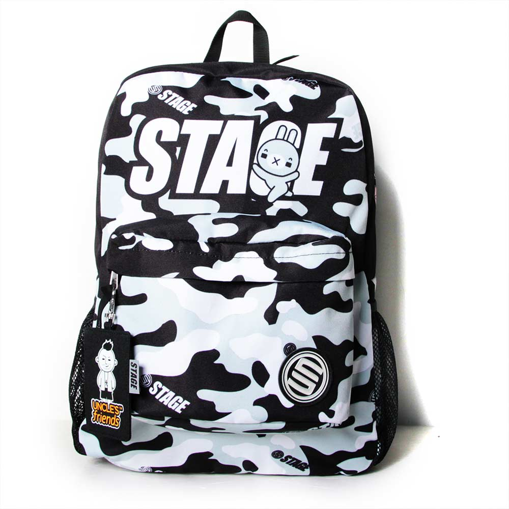 STAGE BAG × UNCLES FRIENDS GRAY BACKPACK 黑灰色 射手座 2
