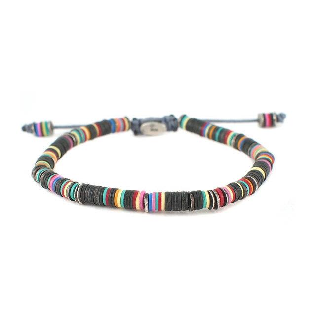 【現貨商品】【M.Cohen】異國非洲黑色串珠手環(MC-B-10589-OXI-BLK) 1