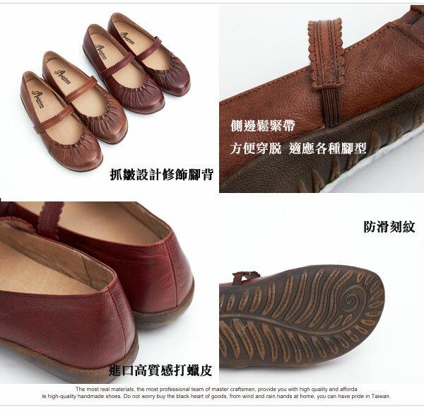 AppleNana。皮革蕾絲橫帶瑪莉珍寬口氣墊鞋。專利一體成型耐走墊【QR12281480】蘋果奈奈 2