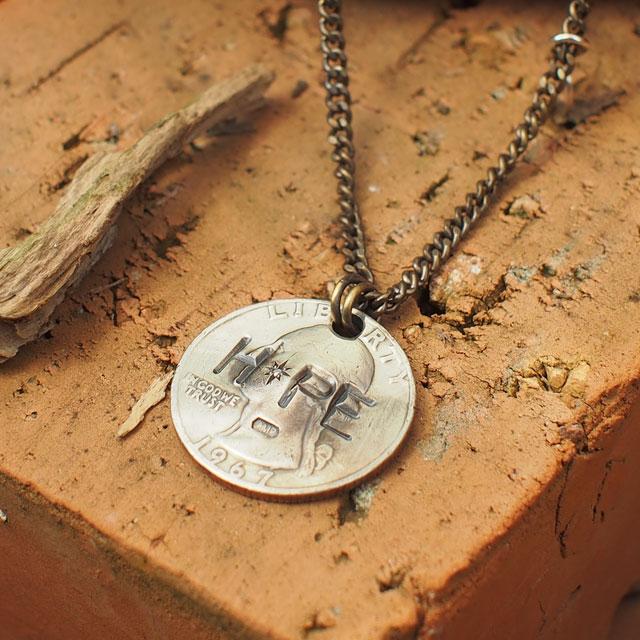 【海外訂購】【amp japan】HOPE 錢幣純銀鑽石項鍊(AMP-11AD-214  0608590000) 3