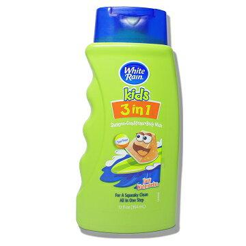 美國進口 WhiteRain 兒童3合1沐浴乳-瘋狂西瓜354ml