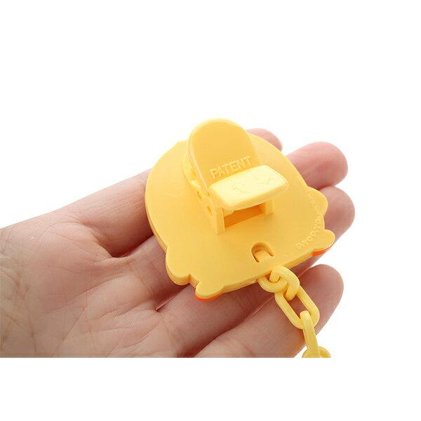 『121婦嬰用品館』黃色小鴨 安全造型奶嘴夾 1
