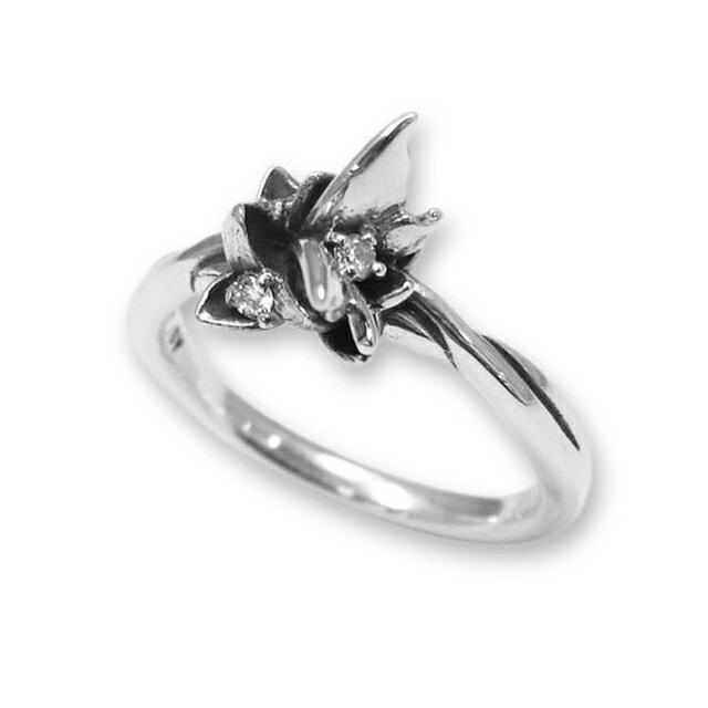 【海外訂購】【KONRON】花之回憶鑽石純銀戒指(KRR0544-D) 0