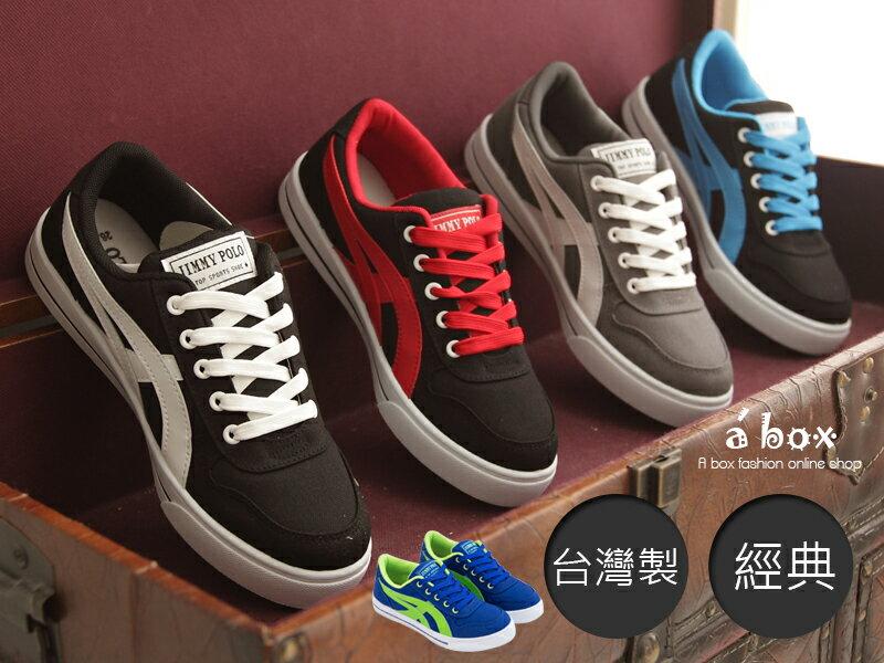 格子舖*【AJ1555】台灣製經典男款布面休閒鞋 滑板鞋 帆布鞋 情侶鞋 5色現貨 0