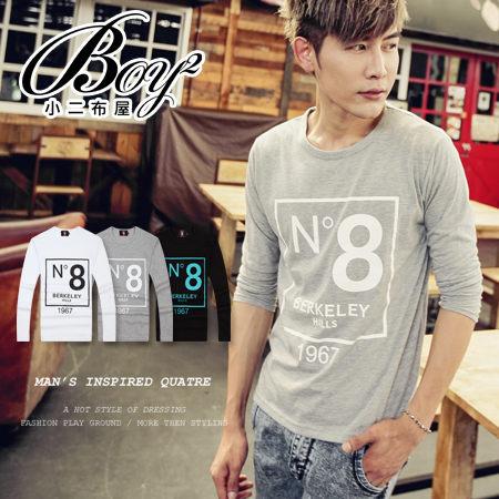 ☆BOY-2☆ 【PPK86016】韓式N8印花長袖T恤 1