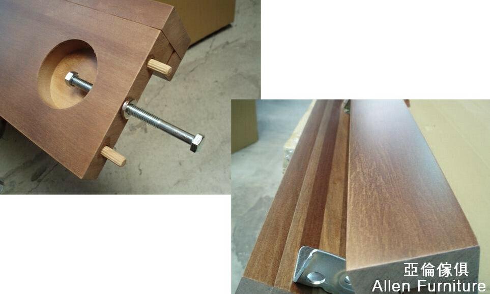 亞倫傢俱*山姆威爾5尺雙人南洋檜實木床架 5