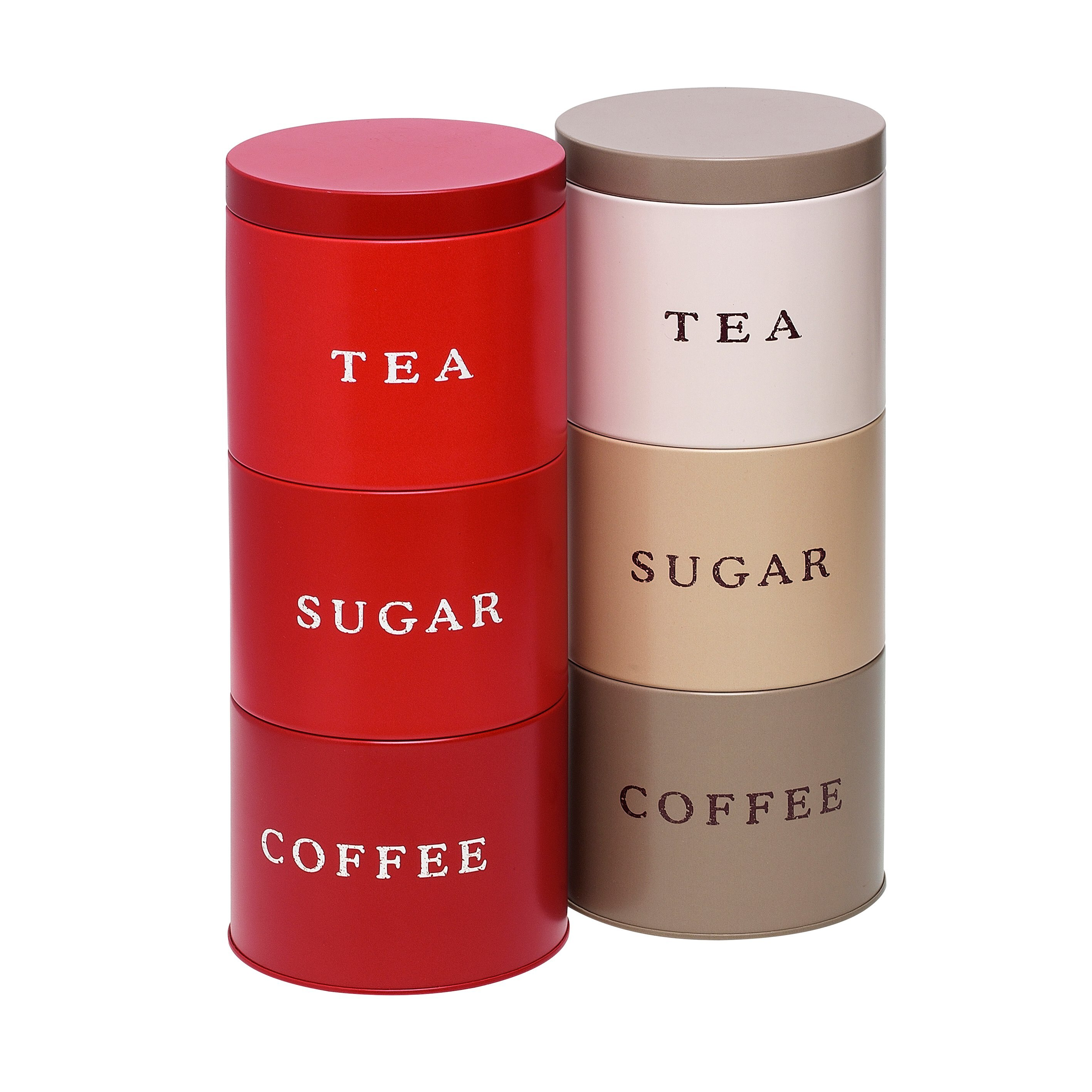 Stackable Tea Coffee Sugar Containers Gl Dishes For Meat Dairy