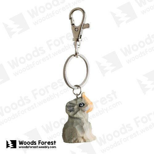 Woods Forest 木雕森林 - 禮盒款木雕鑰匙圈【大象】
