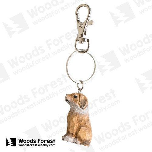 Woods Forest 木雕森林 - 禮盒款木雕鑰匙圈【狗】