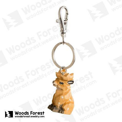 Woods Forest 木雕森林 - 禮盒款木雕鑰匙圈【麋鹿】