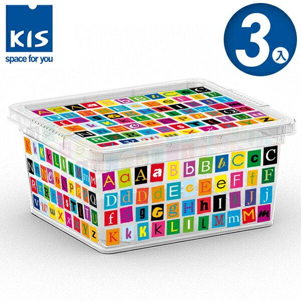E&J【012001-06】義大利 KIS C BOX 字母系列收納箱 XXS 3入;無印風/收納箱/收納盒/玩具收納