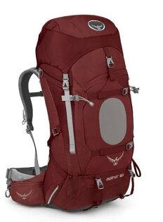 【鄉野情戶外專業】 Osprey |美國|  Aether 60 登山背包 男款-阿羅紅M _Aether60
