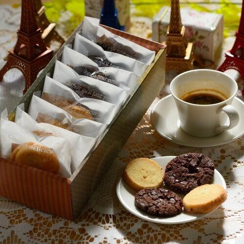 鹽之花巧克力+香草酥餅綜合8入