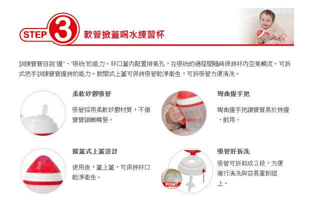 Aprica愛普力卡 - 軟管掀蓋喝水練習杯 STEP 3 2