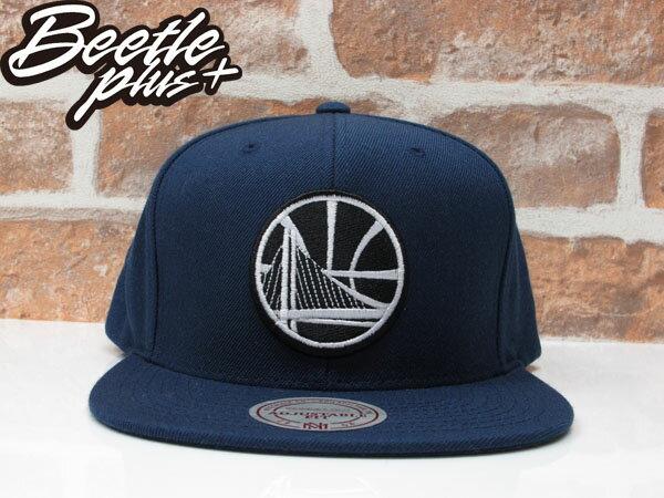 BEETLE PLUS MITCHELL&NESS NBA WARRIORS 美國職籃 舊金山 金州 勇士 CURRY 黑白 深藍 SNAPBACK 帽 後扣 棒球帽 總冠軍  0