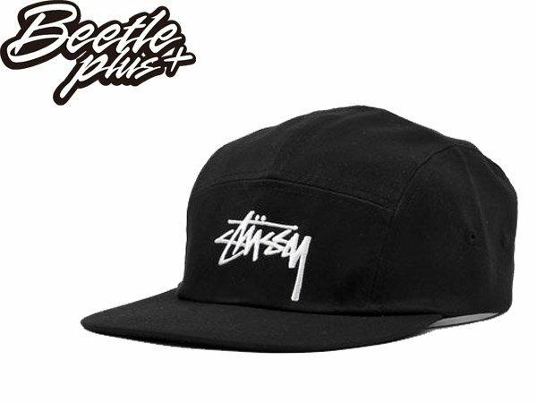BEETLE PLUS STUSSY STOCK CAMP CAP 黑白 五分割 LOGO 素面 草寫 刺繡 經典 復古 老帽 HUF ST-22 0