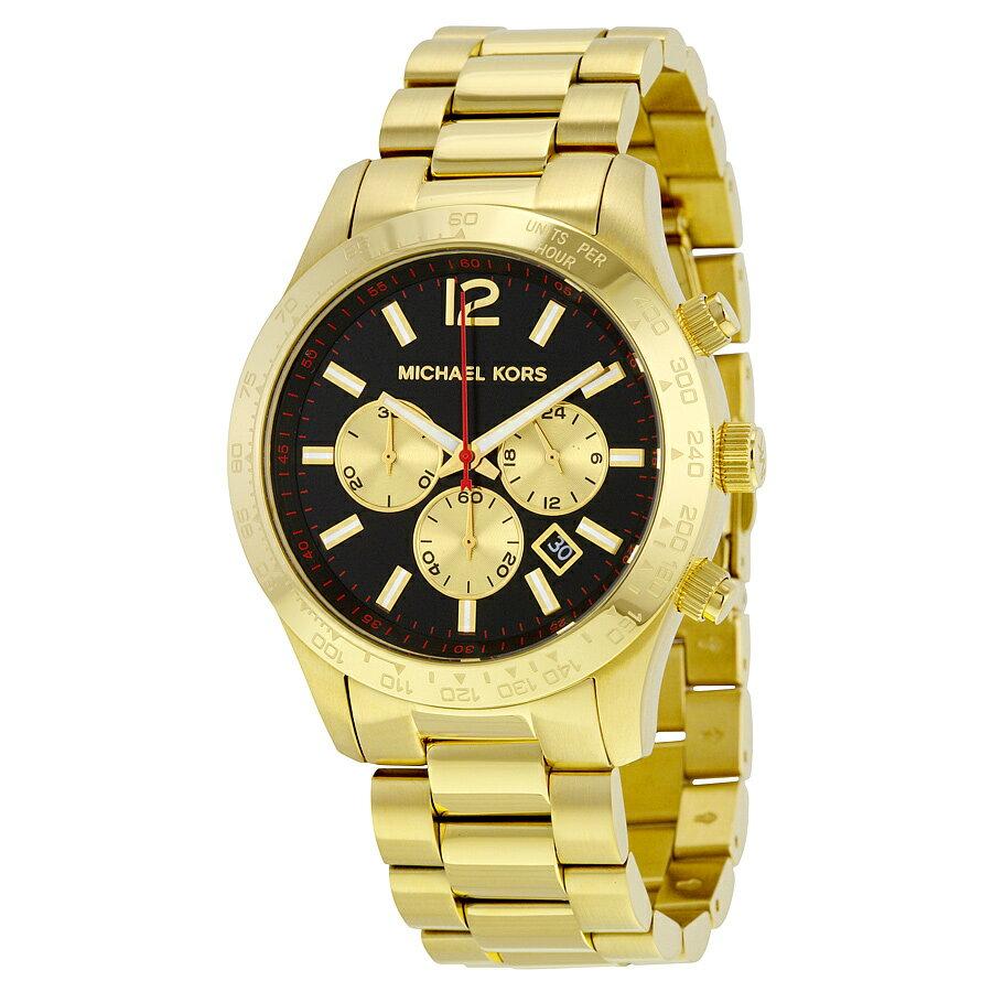 【限時8折 全店滿5000再9折】Outlet正品代購 Michael Kors MK 金屬金色 男女款 三眼 計時 手錶 腕錶 MK8246 0