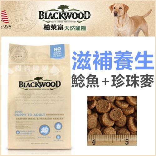 +貓狗樂園+ BLACKWOOD柏萊富【全犬。滋補養生配方。鯰魚+珍珠麥。5磅】520元 - 限時優惠好康折扣