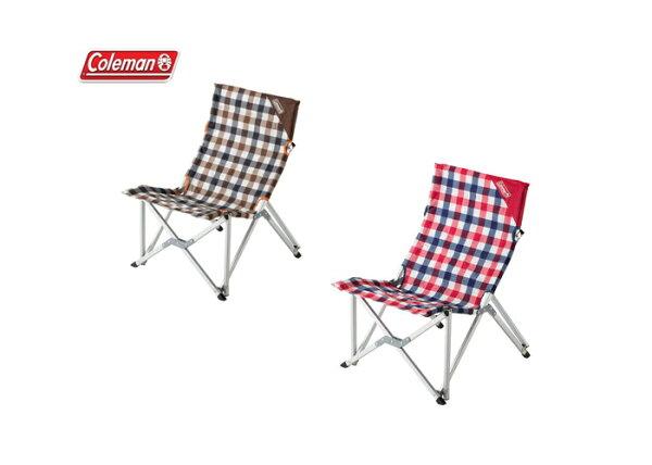 Coleman 美國 | 紅、棕格紋樂活椅 | 秀山莊(CM-26563、CM-26564)