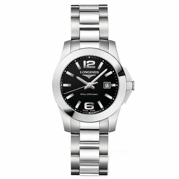 LONGINES L32774586經典征服者潛水女錶/黑面29.5mm
