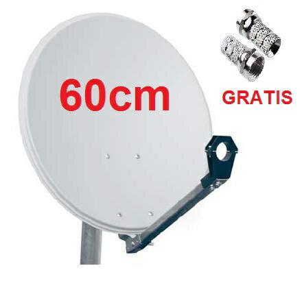 ANTENA PARABOLICA 60cm + LNB SHARP UNIVERSAL + SOPORTE PARED + RECEPTOR IRIS 9900HD 02 + CONECTORES F + CABLE HDMI 2