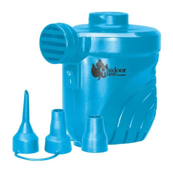 日野戶外~【Outdoorbase】颶風充氣馬達 充氣床馬達 充氣床 露營  泳池 可充氣及洩氣 幫浦 藍 28262  打氣機